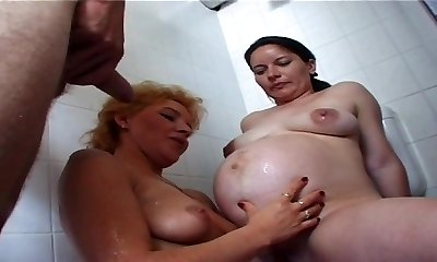 Pregnant whore mom enjoys the opened life style
