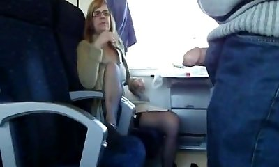 Mature wife sucks in instruct