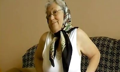 OmaHoteL Nasty Grandma Frolicking Her Hairy Pussy