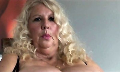 High-class busty blonde tramp poon nailed hard in close up