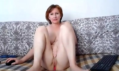 Russian momma excellent bra-stuffers and lovely pussy