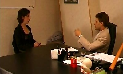 French unshaved mature sodomized by her boss