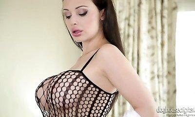 Sexy mummy Aletta Ocean in red-hot masturbating solo compilation