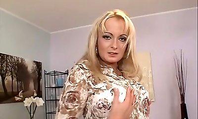 Towheaded mature anal