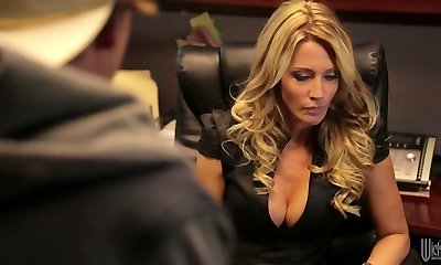 Divine light-haired mommy Jessica Drake is nailed indeed well