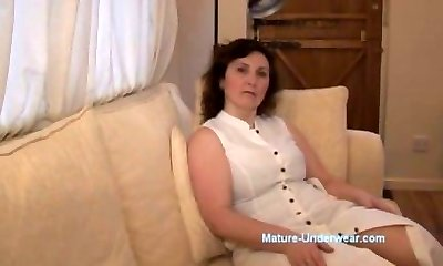 Buxomy mature milf panty taunt and striptease