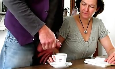 Mischievous First-timer clip with Brunette, Grannies scenes