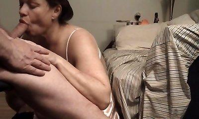 Feeding Time: Milf Wifey Pays Mastercard Bill Swallowing Cum