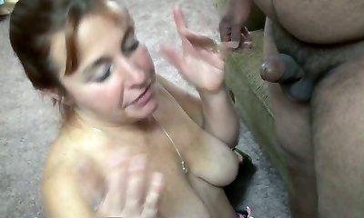 Buxom fair haired mom drinks 2 sweet tiny cocks insatiably