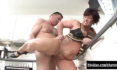 German milf eat plumber man rod