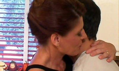 Cougar mom Linda Roberts seduces a young guy