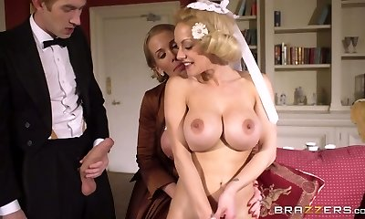 Young rich man had rock-hard threesome with two buxom mommies