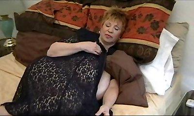 Big-boobed Granny Dildo