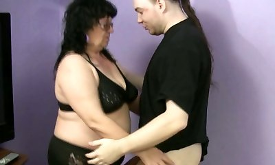 Ugly fatso Ramona desires to please a heavy hot cock