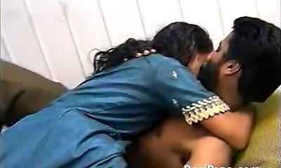 Indian Pornography Mature Couple Tantalizing Fucking