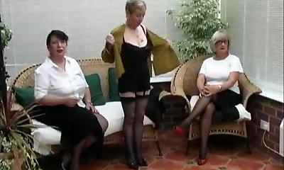 Vintage Stripping from three Mature Village Dolls