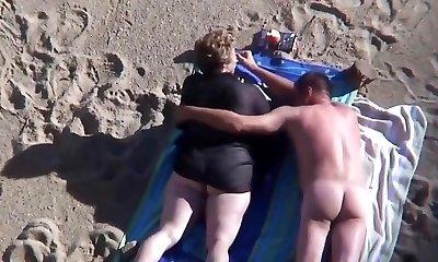 Beach mature plus-size