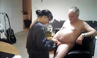 Swedish homemade video of a mature mom pounding step-brother