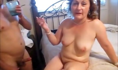 Stud Fucking Mature Wife while Husband Enjoys Seeing