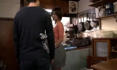 Japanese housewife  milf seduces son's pals - 1