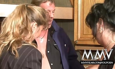 MMV Films 2 mature wifes sharing a man meat
