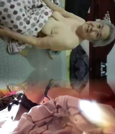 Chinese Granny with Saggy Tits Pulverized