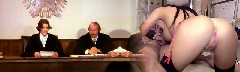 Hook-up - Judge examines facts of the case in the courtroom