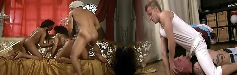 2 Wonderful Femmes Sharing A Hard Cock With Each Other