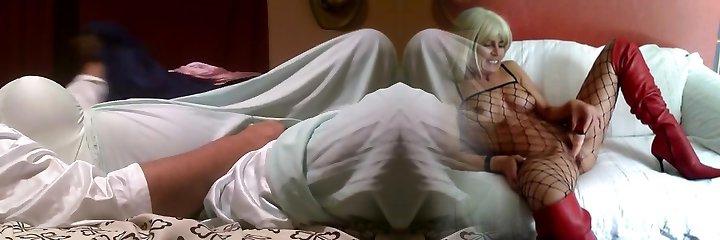 Nylon olga nightgown jizm