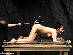 In scene one, Andy is strapped to a kneeling x frame. A tight leather posture collar and shirt...