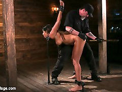 Sadie is new to us, but not new to bondage. She is very familiar with the ways of domination and submission. Today she will be schooled in pain and torment. Her entire body is The Pope's target and he will stop at nothing to make sure her suffering is monumental. After pushing her harder than she's ever been pushed he rips mind blowing orgasms out of her pussy.