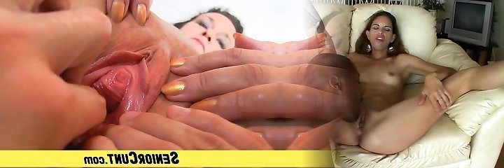 Aged woman Danielle pussy finger-smash by youthfull boy