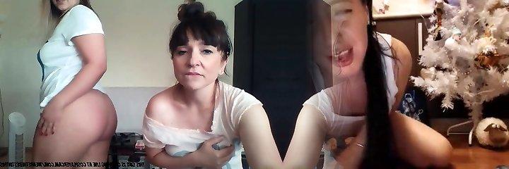 moeder en dochter op de cam