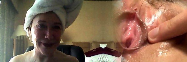 grote kruik volwassen op webcam