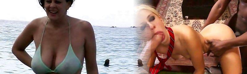 super-kurwa - gorąca puma w kostiumie kąpielowym na plaży