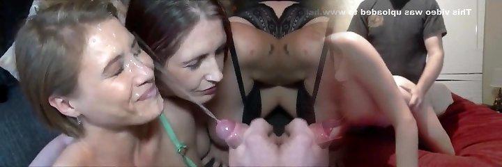 niesamowity nieskończony strzał spermą na super - gorące mamuśki twarz