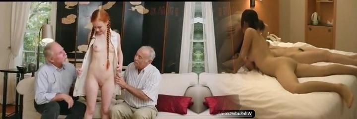 oude mannen met tiener meisje redhair