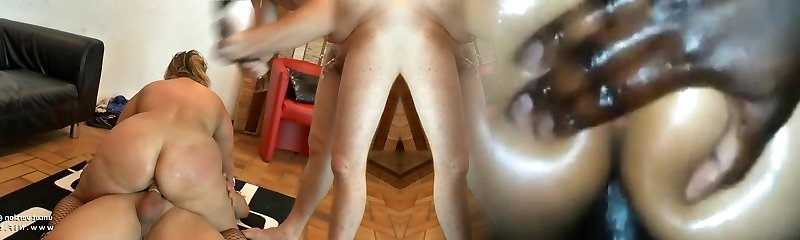 Amateur plus-size french mature buggered DP fisted n facialized