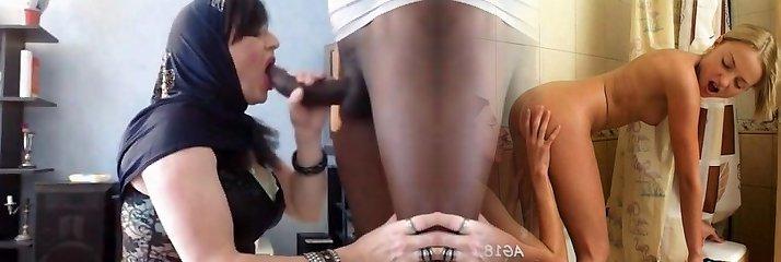 arabische meisje doet blowjob