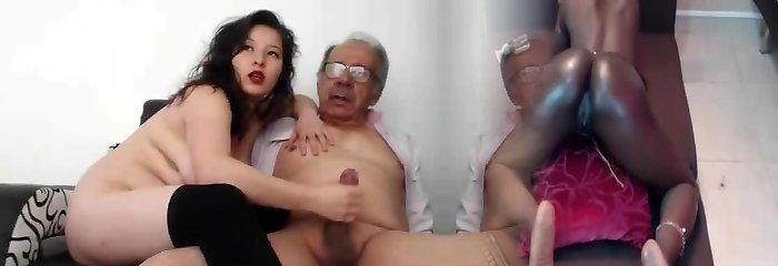 bir genç gal jack bir elderly adam ve o finished