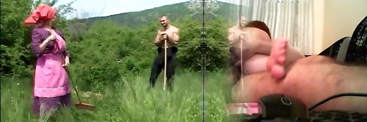 oma doorgedrongen in de velden - cireman