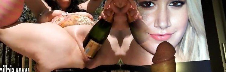 aşırı çift fisting ve dev şişe insertions