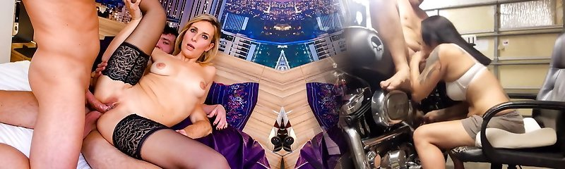 LA COCHONNE - First anal Dp for blonde mature in MMF pummel