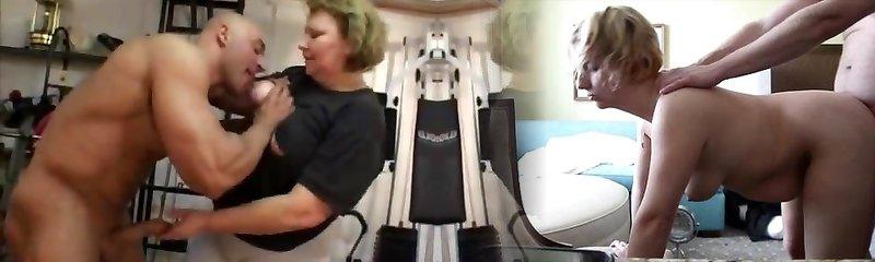 büyükanne spor salonunda anal yapar