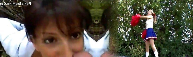 Colette mamuśki pieprzy się w lesie