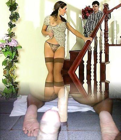 Xxx Brunette Teen In Stockings