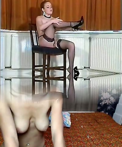 Sexy British big-chested pantyhose teaser