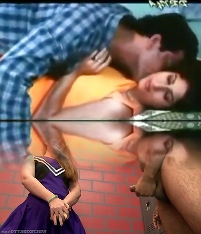 Vintage porn shows a huge-boobed Indian breezy making out