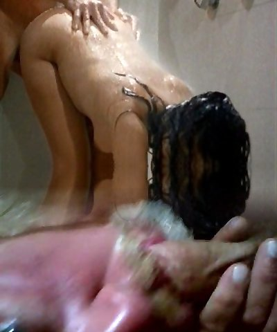 Soap and cum in the shower