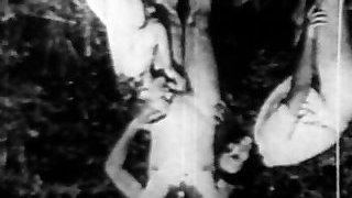 Vintage outdoor threesome